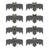 Set of bats, decorative icons for Halloween — Stock Vector