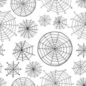 Seamless pattern with spiderweb, Halloween background  — Vetorial Stock
