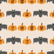 Seamless pattern of bats and pumpkins — Vector de stock  #55131571