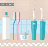Set of teeth care icons — Stock Vector