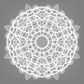 Christmas decorative lace ornament, snowflake  — Stock Vector