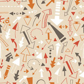 Seamless pattern of doodle arrows, pointers — Stock Vector