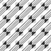 Seamless black and white abstract decorative pattern — Stock Vector
