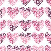 Seamless romantic pattern of hearts — Vetor de Stock