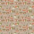 Seamless holiday pattern, festive background — Stock Vector #69594461