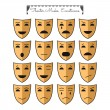 Постер, плакат: Theatrical masks emoticons