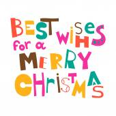 Best wishes for a Merry Christmas. Christmas greeting. Lettering — Stock Vector