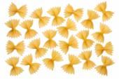 Italian raw pasta farfalle, bow tie, butterfly — Stock Photo