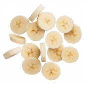 Banana slices isolated on white background — Stock Photo