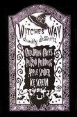 Witches Way Menu — Stock Photo