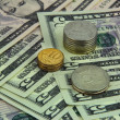 Rubles and dollars — Stock Photo #60441333