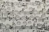 Music waterdrops — Stock Photo
