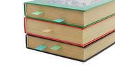 Three books with bookmarks  — Zdjęcie stockowe