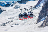 MONT BLANC, ITALY - AUGUST, 19: the highest cable way in Europe, — Stock Photo