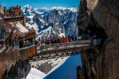 Aiguille du Midi Platform,2-AUGUST 2013 France, Europe  — Stock Photo