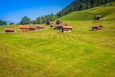 Wooden houses in Malbun in Lichtenstein, Europe — Stock Photo