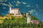 Vaduz castle view, Lichtenstein — Stock Photo