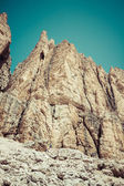 Sass Pordoi south face (2952 m) in Gruppo del Sella, Dolomites m — Stock Photo