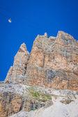 Sass Pordoi south face (2952 m) in Gruppo del Sella, Dolomites m — Stock Photo