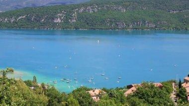 Lago di st croix, les gorges du verdon, provenza, francia — Video Stock