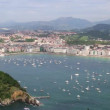 Overview of the Bay of San Sebastian, Spain — Stock Video #53426467