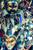Carnival masks of the world most famous grand canal venice histo — Stock Photo