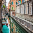 Beautiful view on the Venice city in Italy with canal — Stock Photo #54185793