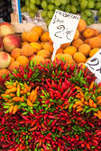 Colorful groceries marketplace in Venice, Italy. Outdoor market  — Stock Photo