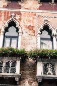 Facades of houses on a street in Venice, Italy — Stock Photo