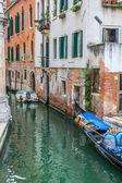 Gondola Service on the canal in Venice, Italy — Stock Photo