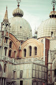 The Basilica of San Marco in St. Marks square in Venice, Italy — Stock Photo