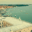 View of Venice city from the top of the bell tower at the San Ma — Stock Photo #54404103
