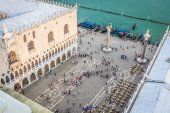 Marco square is the most famous and attractive square in Venice — Stock Photo
