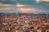 Venice cityscape - view from Campanile di San Marco. UNESCO Worl — Stock Photo