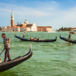 Venice, Italy,August 9, 2013: Traditional Gondola on Canal Grand — Stock Photo #54998523