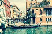 Venice, Italy,August 9, 2013: The beautiful view of a Canal Gran — Zdjęcie stockowe