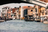Venice, Italy,August 9, 2013: The beautiful view of a Canal Gran — Foto Stock