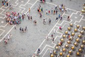 Venice, Italy,August 9, 2013: Saint Mark square (piazza) from th — Stock Photo
