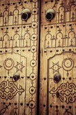 Typical local door of traditional home Tunis,Tunisia — Stock Photo