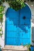 Typical local door of traditional homs Tunis Tunisia — Stock Photo