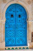 Typical local door of traditional home Tunis Tunisia — Stock Photo