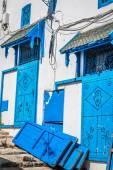 Ulice v města Sidi Bou Said, Tunisko — Stock fotografie