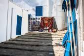 Street in the town of Sidi Bou Said, Tunisia — Stock Photo