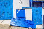 Typical local door of traditional home Tunis Tunisia — Foto de Stock