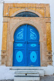 Typical local door of traditional home Tunis Tunisia — Stockfoto