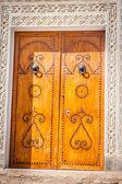 Decorative door in Kairouan, Tunisia — Stock Photo