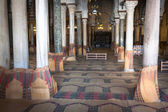 Main prayer room in The Great Mosque of Kairouan, also known as  — Stockfoto