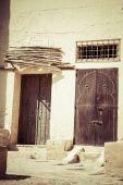 Decorative door in Kairouan, Tunisia — Stockfoto