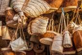 wicker basket in marketplace,Gafsa,Tunisia — Stock Photo