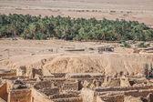Montanha oásis chebika na fronteira do saara, tunísia, áfrica — Foto Stock